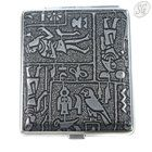 Egyptian motif metal cigarette case (18, black)