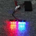 "Mini 3 LED stroboscopic lights with 3 mode controller (1.75"", red, blue, 12V)"