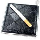 Metal cigarette case (20, black + metal)