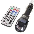 FM transmitter MP3 player w/ IR remote (black, SD, MMC, MP3, WMA, USB, 3.5mm)