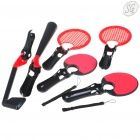 8 in 1 two players PS3 Move sport pack (black + red)
