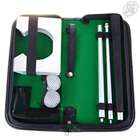 Portable golf set with PU leather carrying case (black)