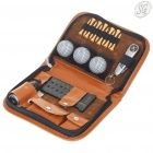 Golf accessories set with PU leather case
