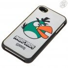 Angry Birds - Protective plastic case with screen protector for iPhone 4 - gear4 (Gray, Green Bird)