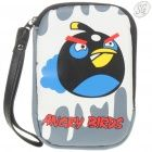 Angry Birds - Leatherette protection pouch (Black Bird)
